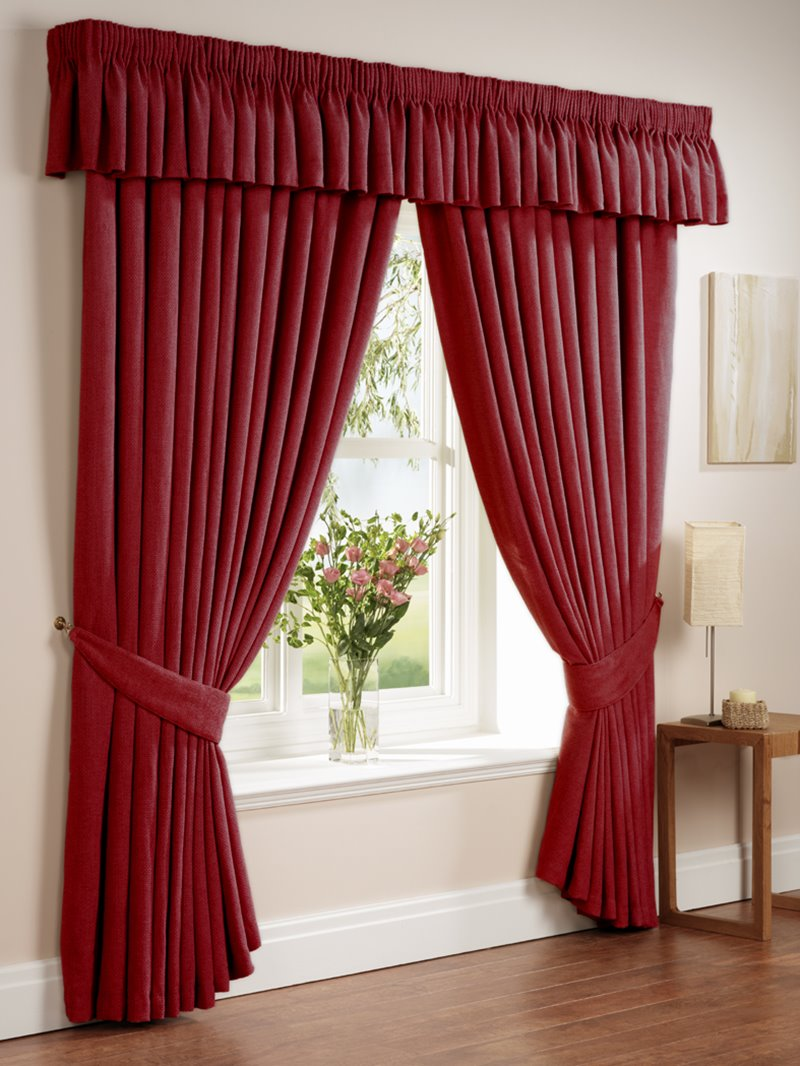 Red Curtain Design For Minimalist Window 4 Home Ideas
