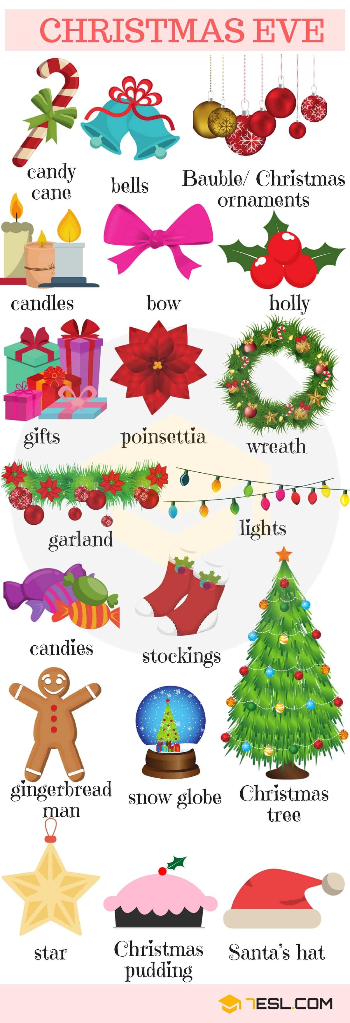 Christmas Decorations Vocabulary