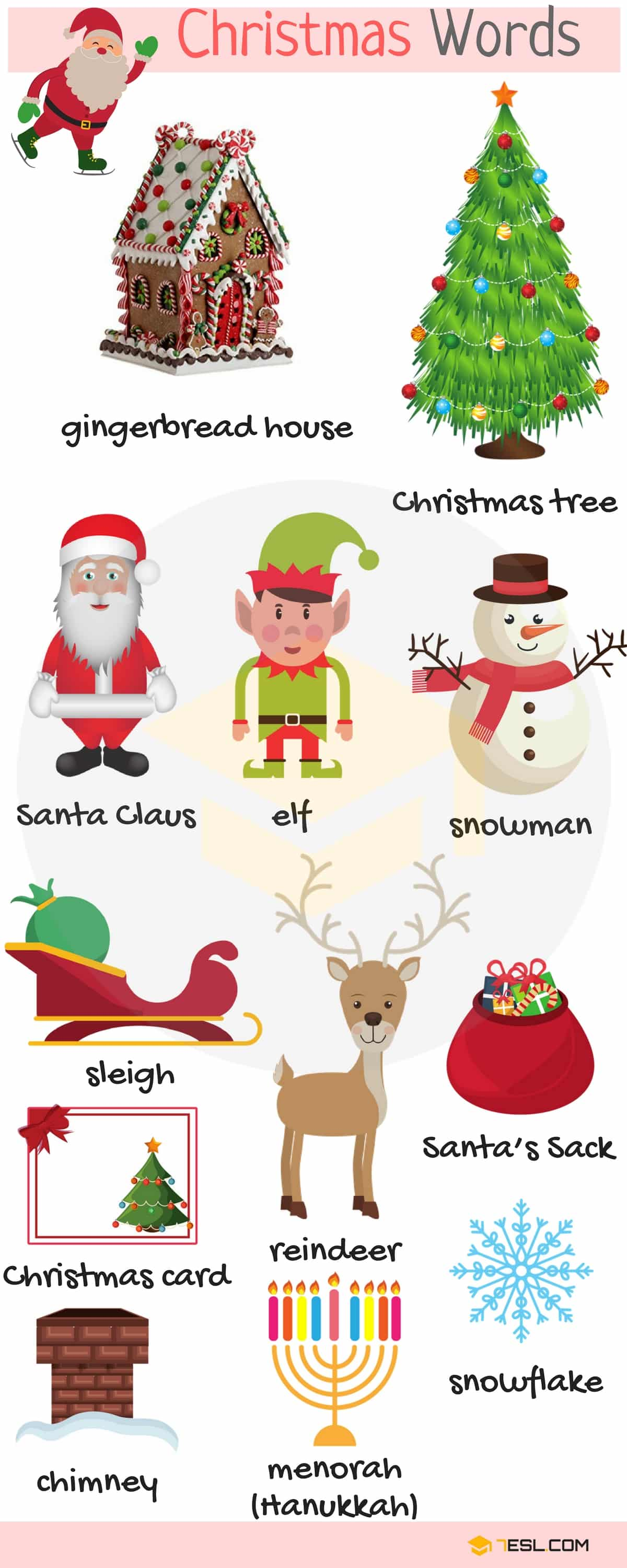 Christmas Words Useful Christmas Vocabulary Words List