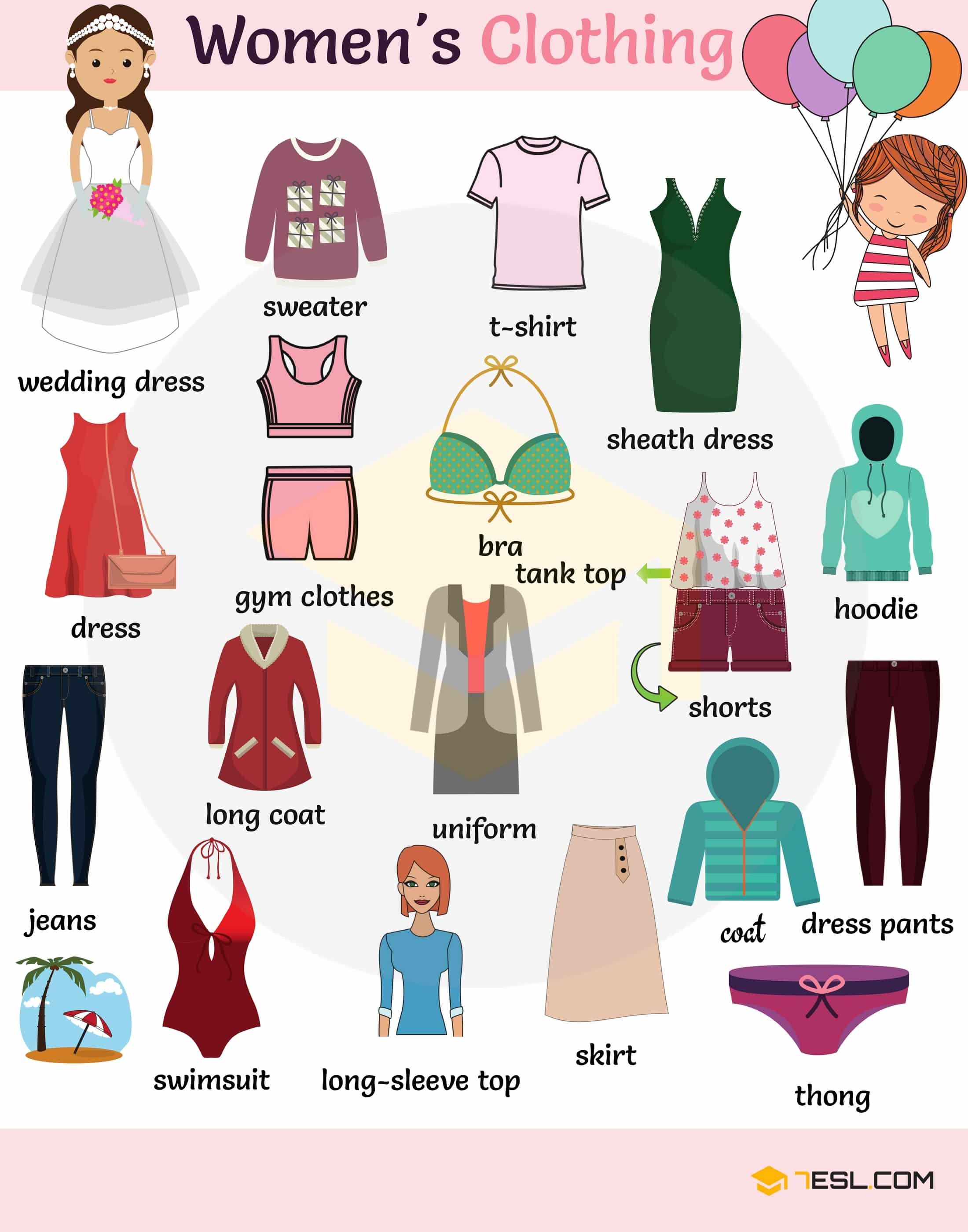 Clothes Vocabulary Names Of Clothes In English With