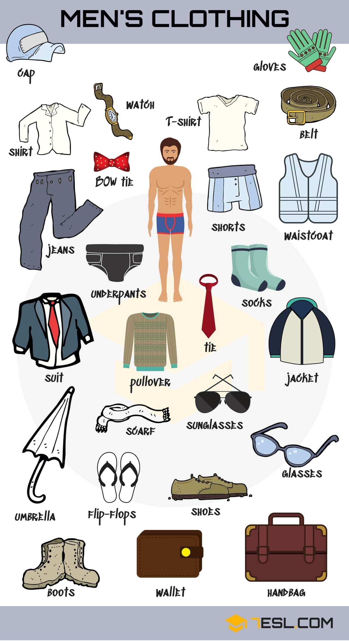 Learn Clothes English Vocabulary With Pictures