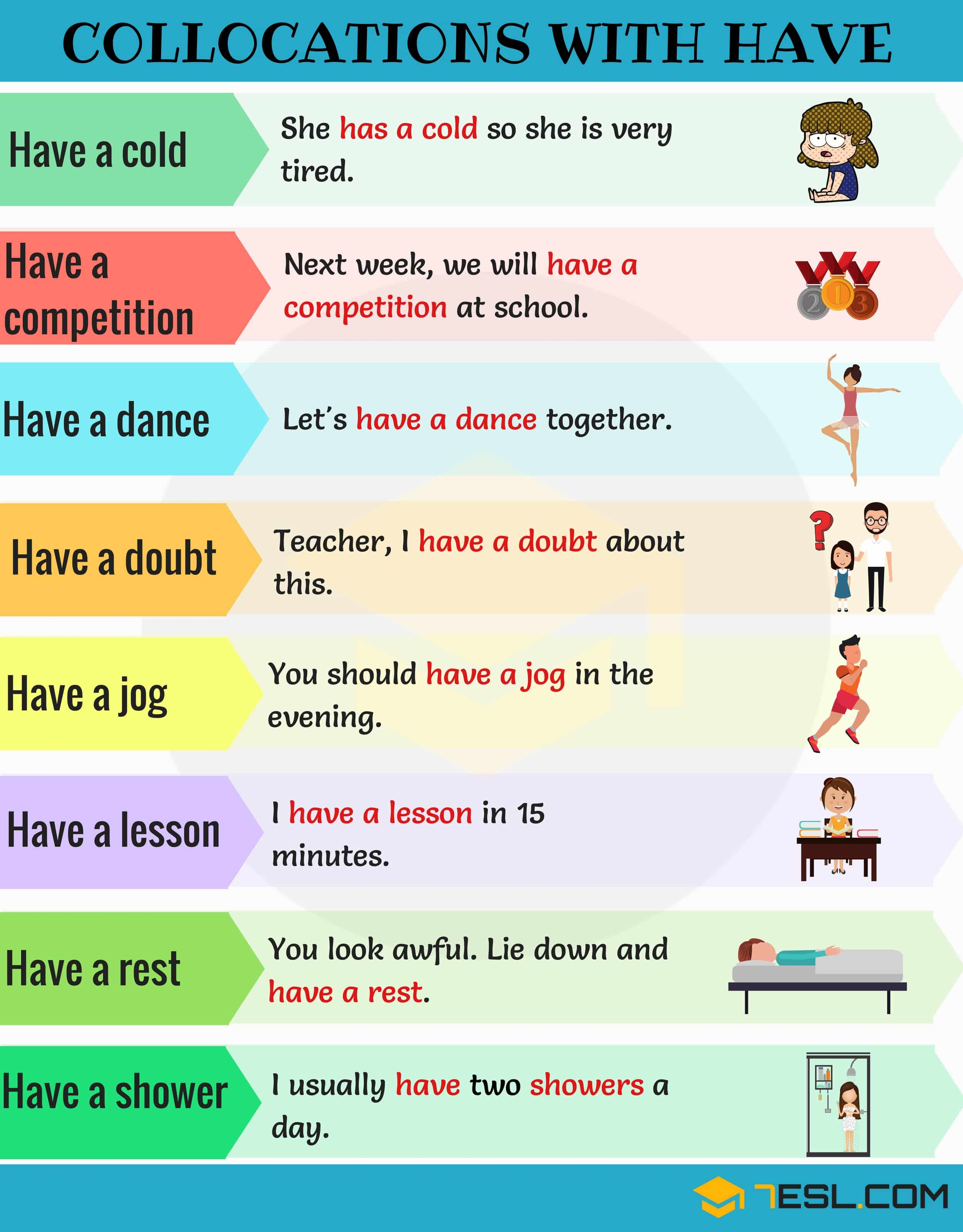 Expressions With Have 120 Useful Collocations With Have
