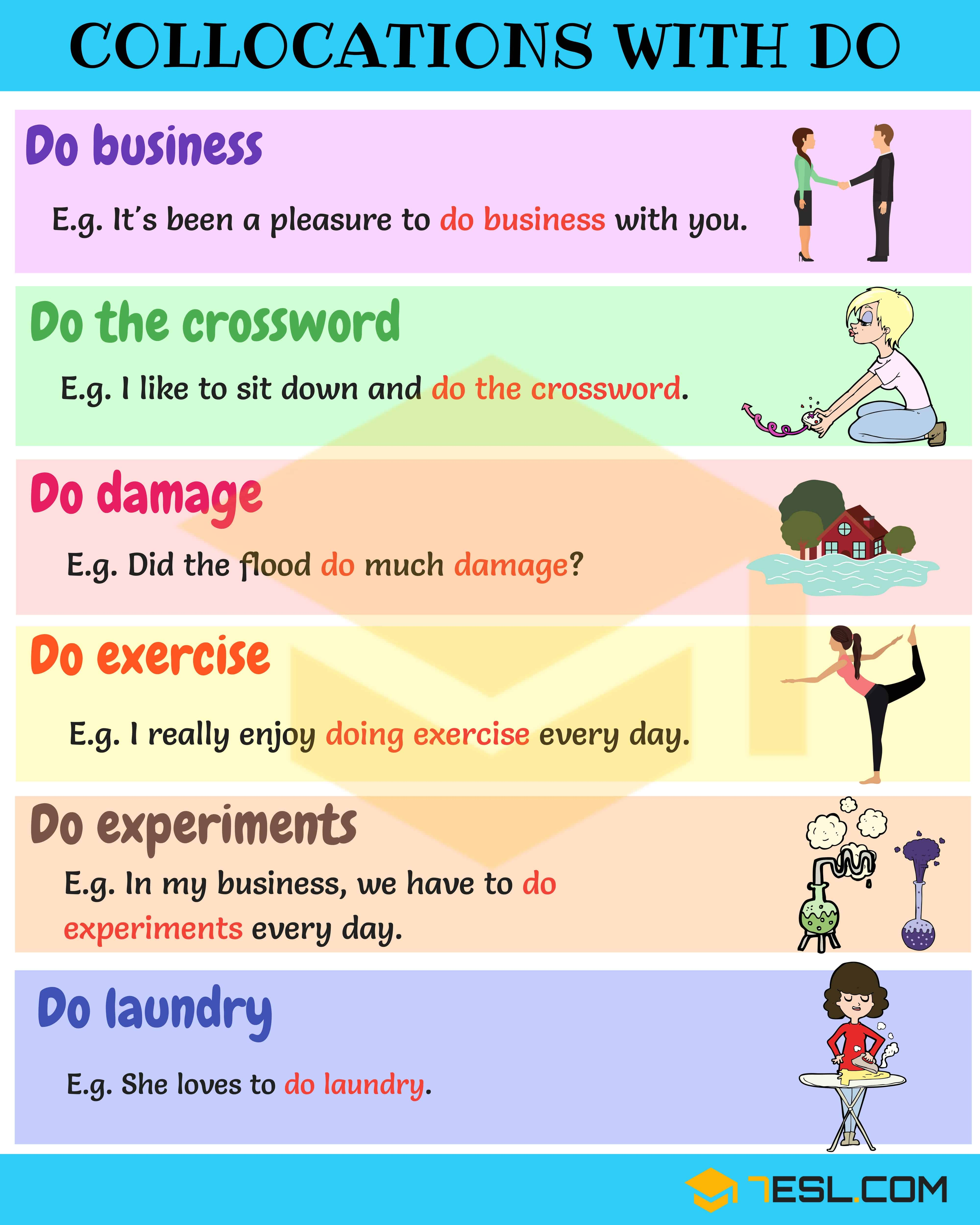 Collocation Examples Types Of English Collocations
