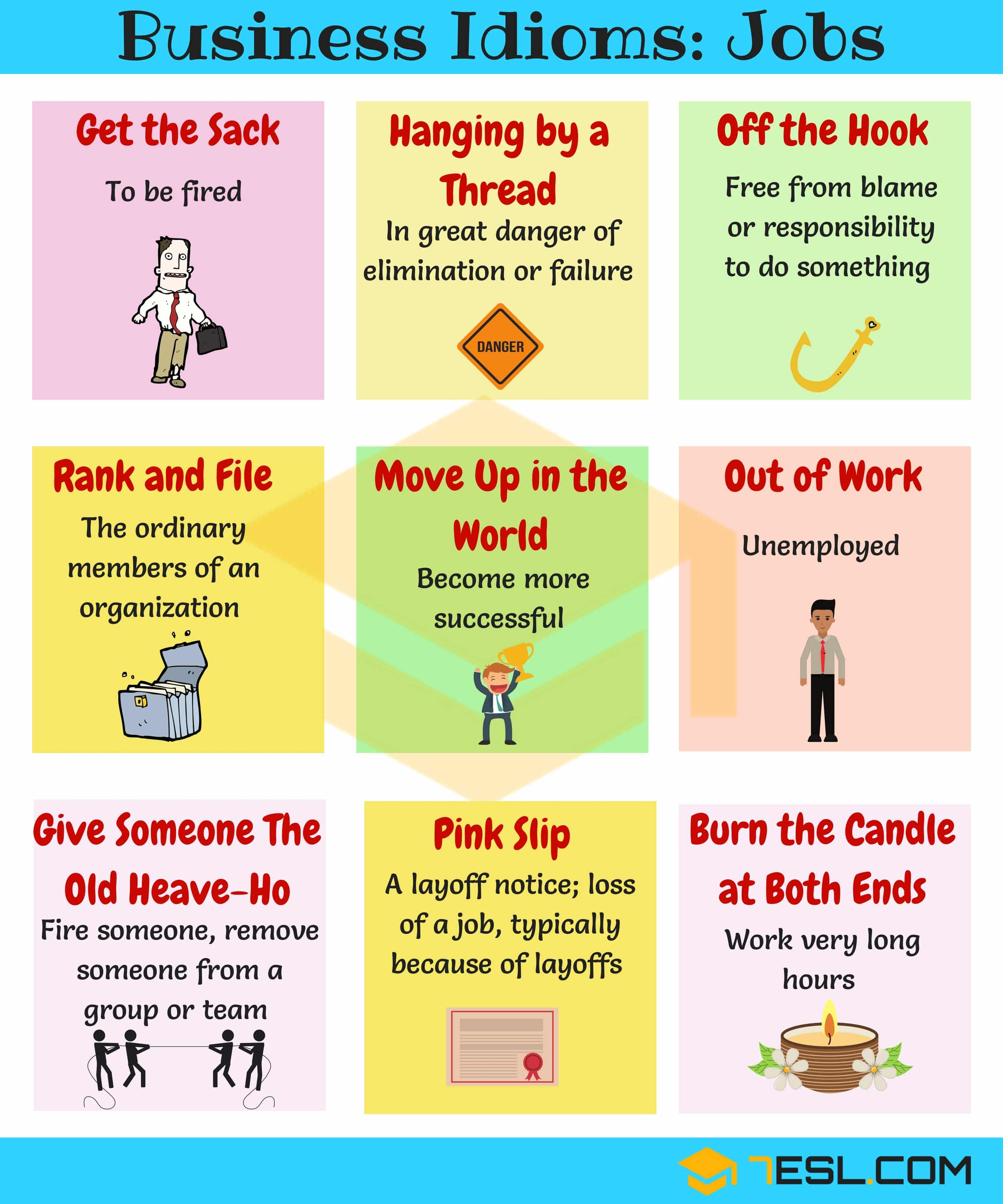 Job Idioms 10 Useful Idioms Amp Sayings About Jobs 7esl