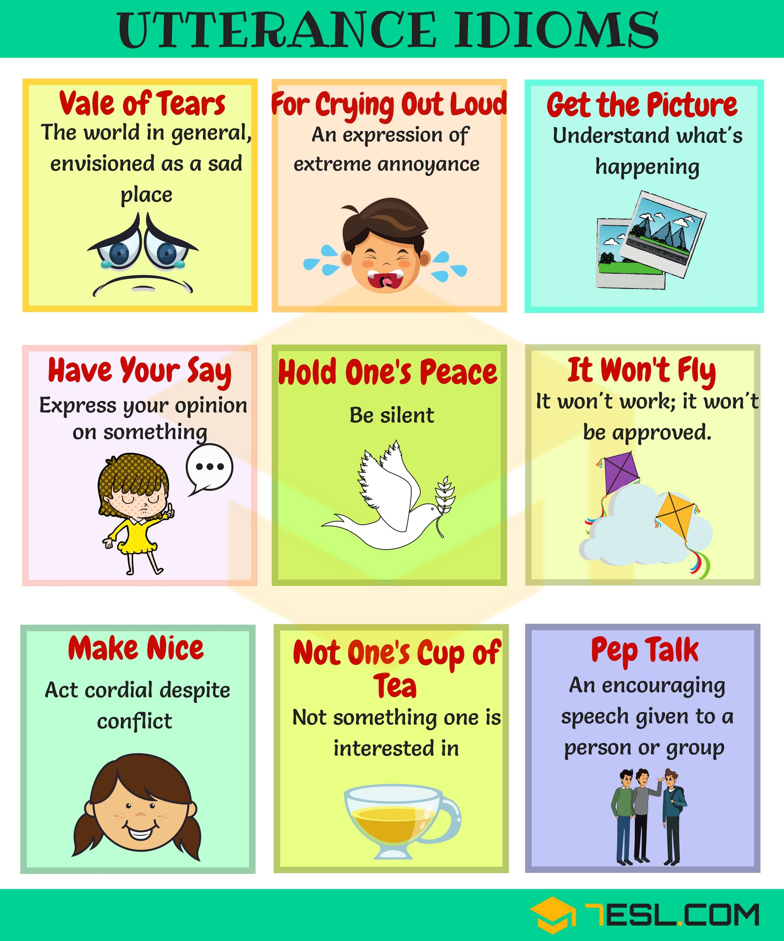 List Of 90 Useful Utterance Idioms You Should Know