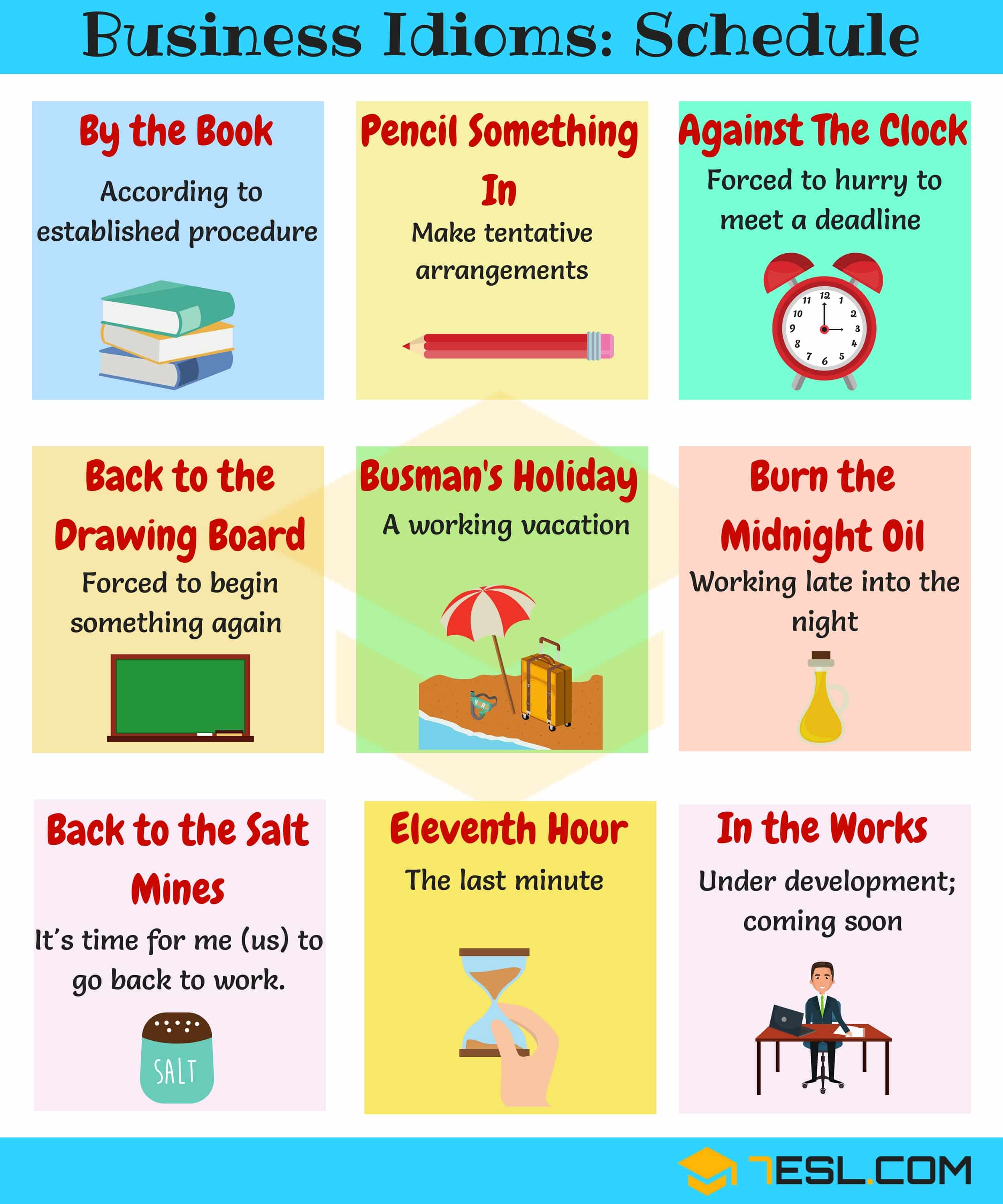 Business Idioms Schedule