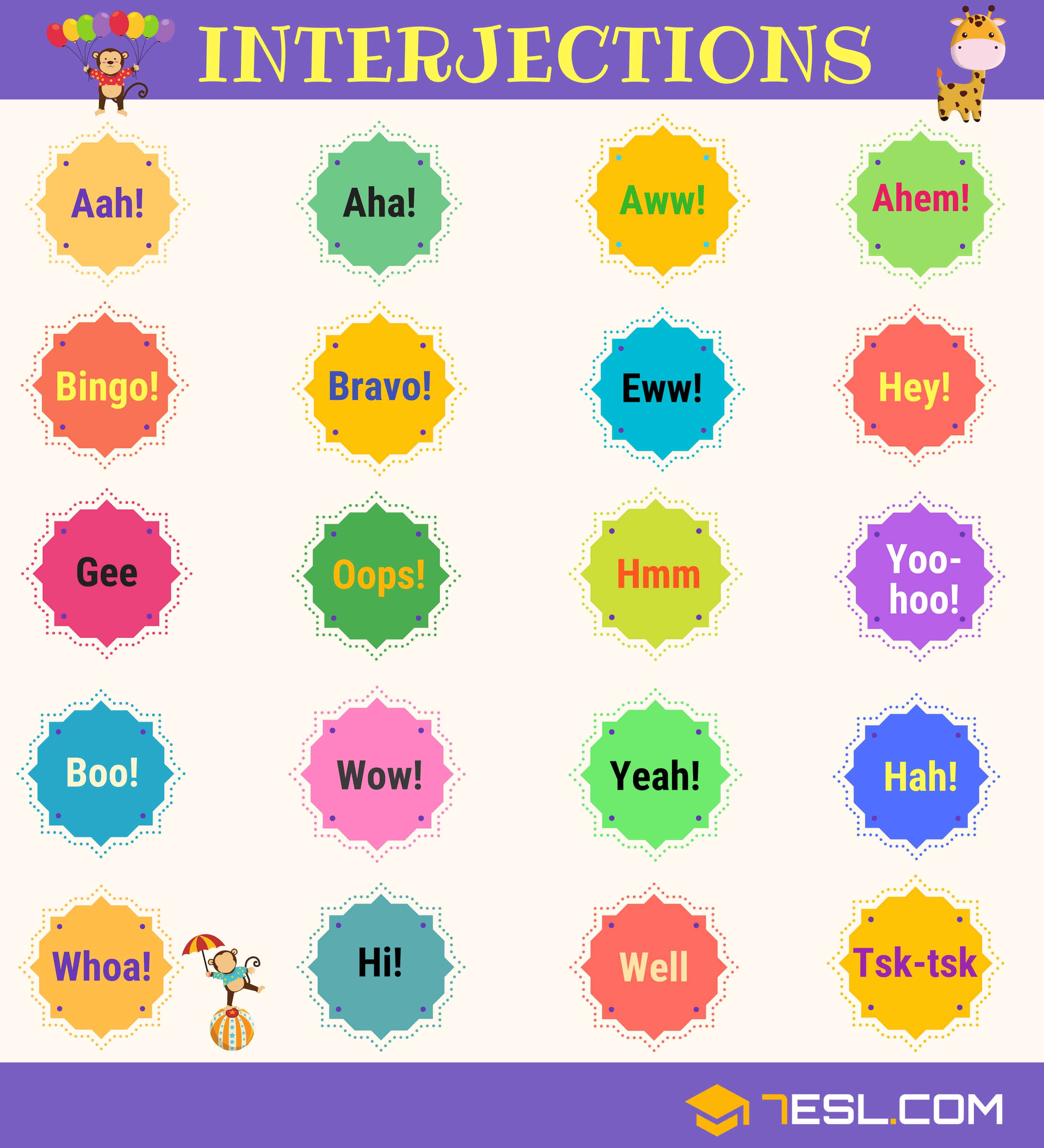 Interjections Exclamation Worksheet