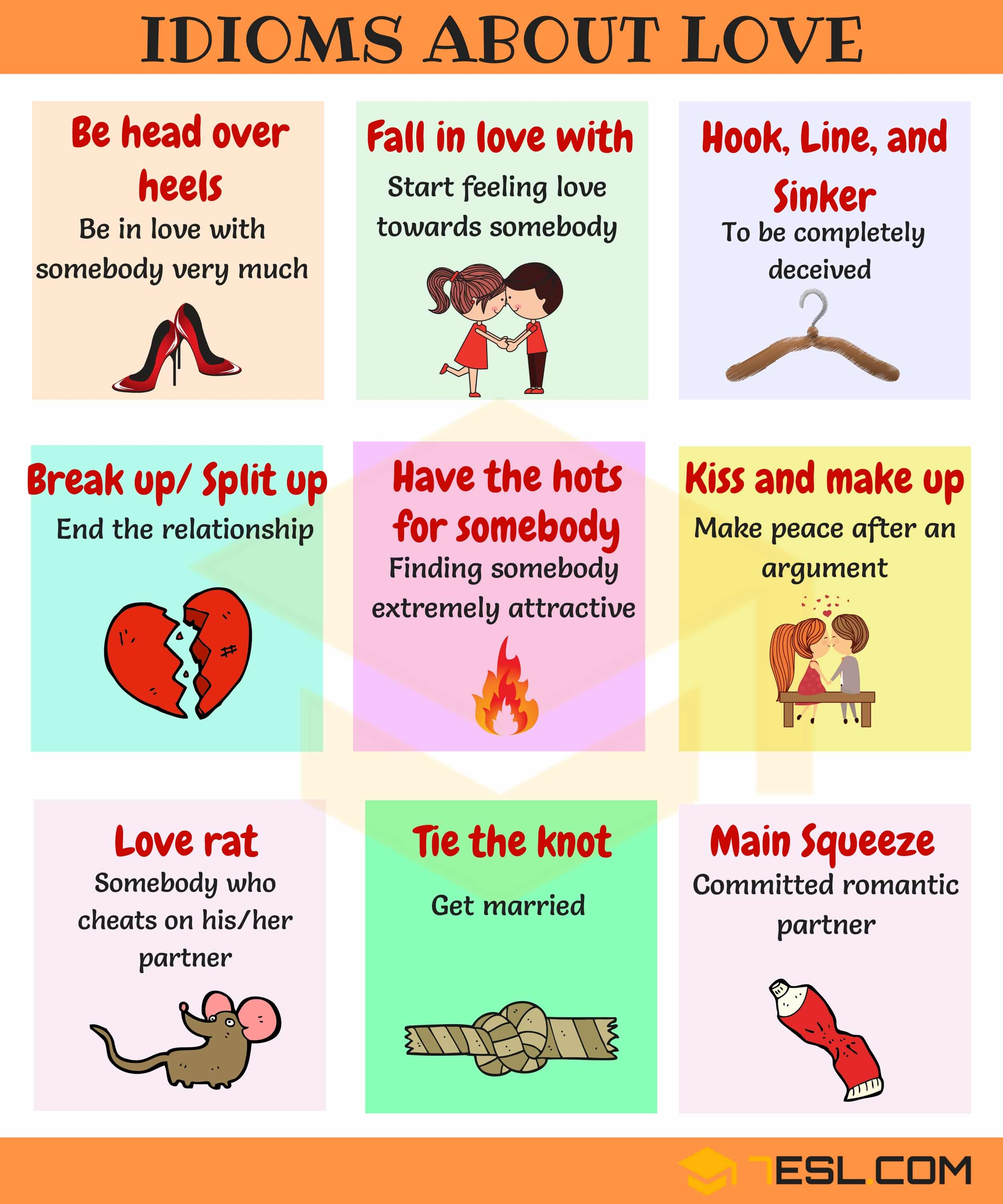 All About Idioms Esl For One And All