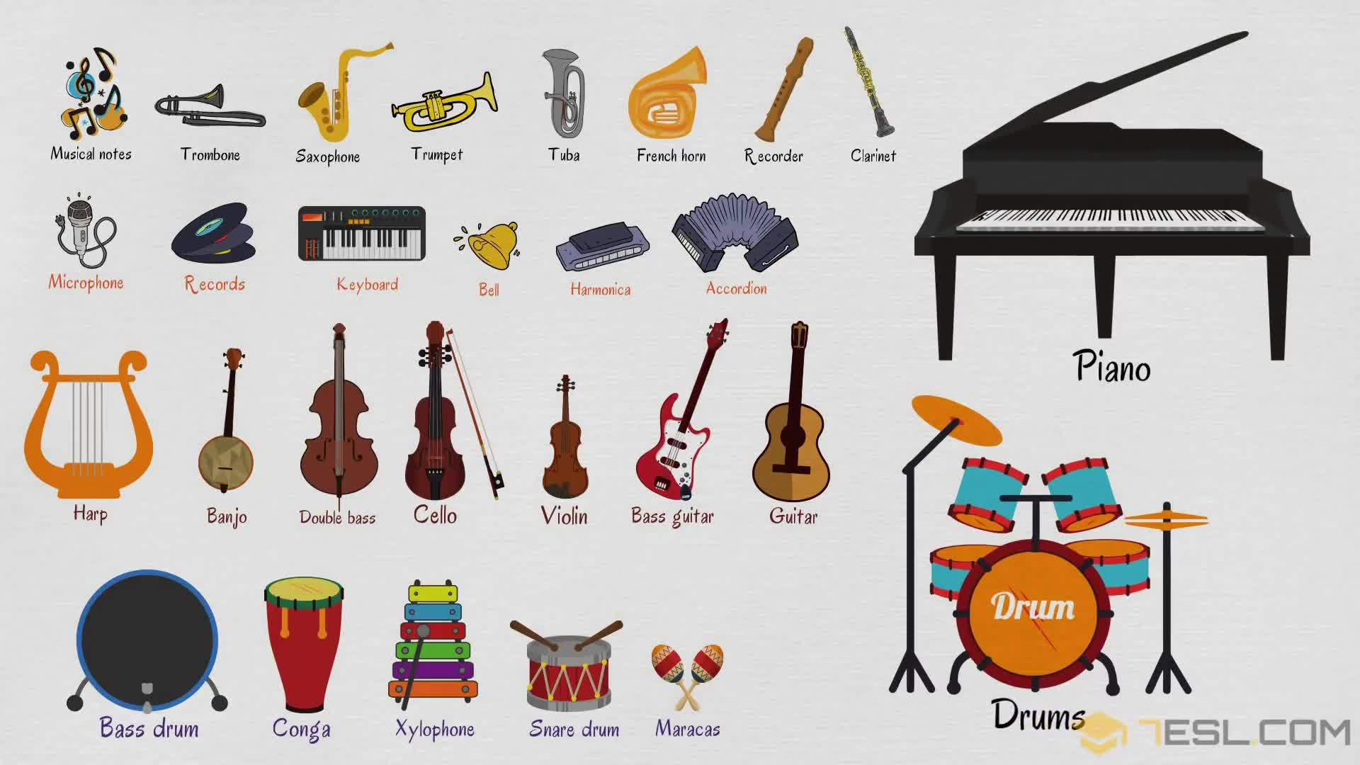 Musical Instruments Names List Of Musical Instruments