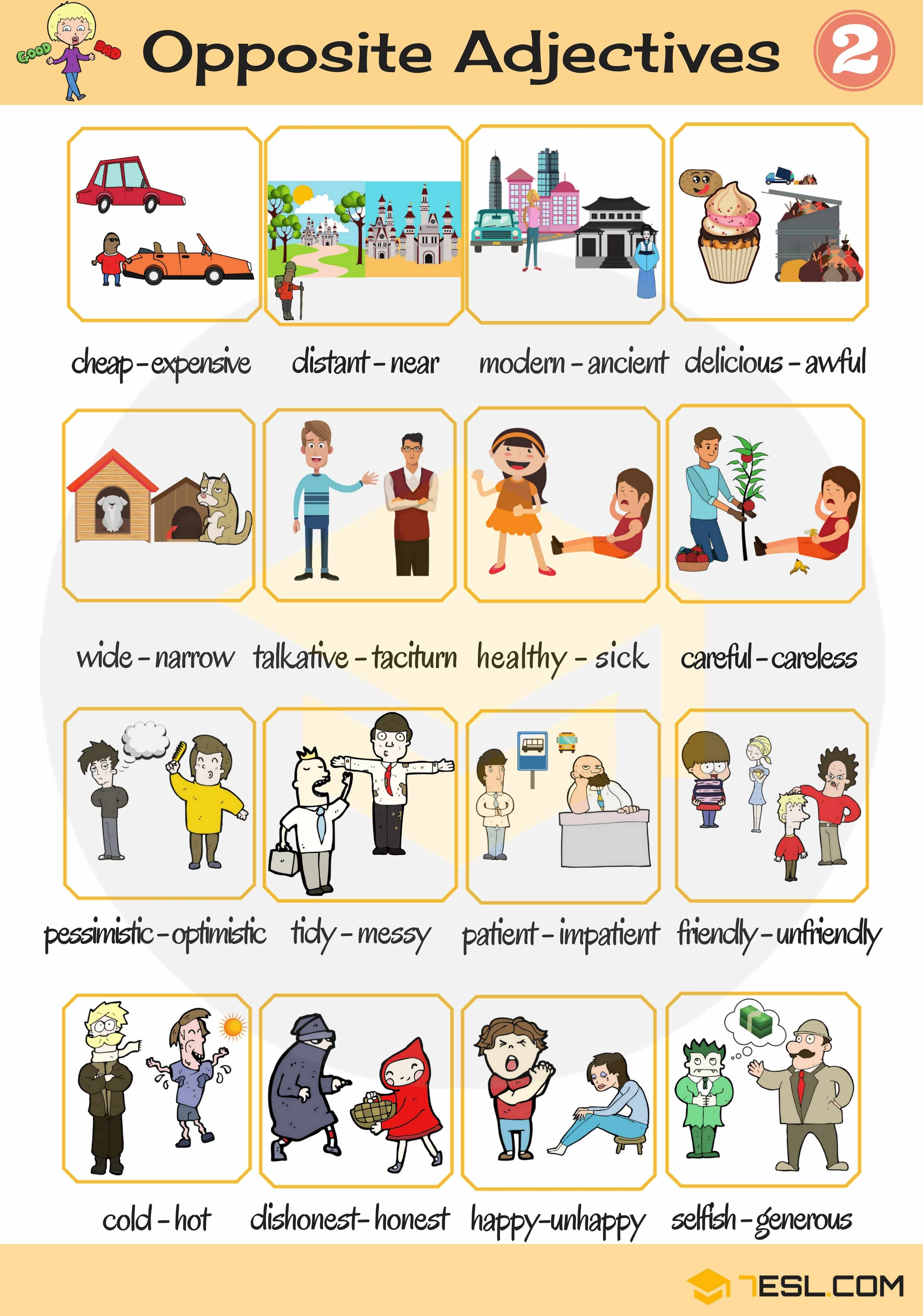 List Of Adjectives Useful Adjectives Examples In English