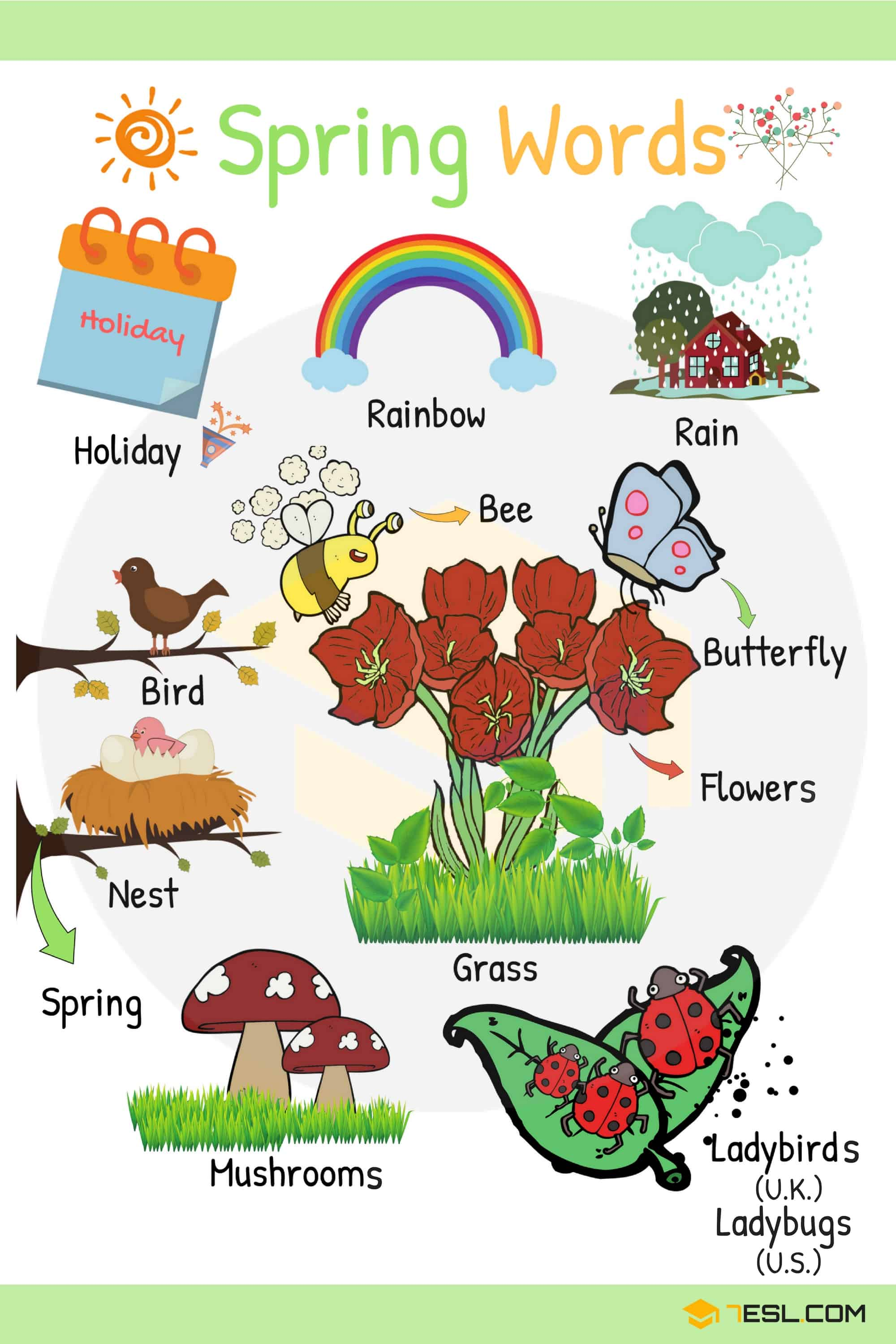 Spring Words Learn Spring Vocabulary With Pictures