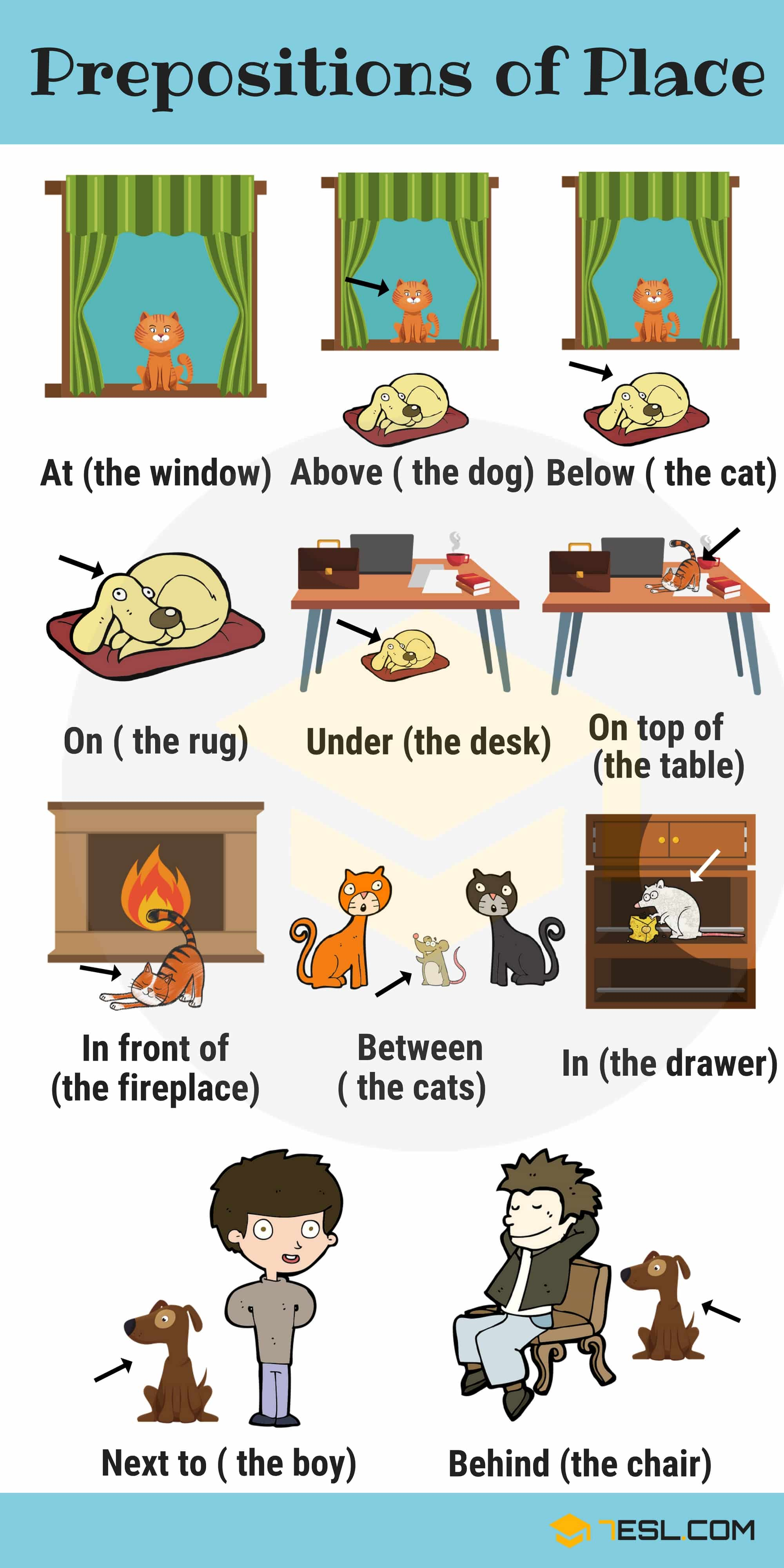 Prepositions With Pictures Useful Prepositions For Kids