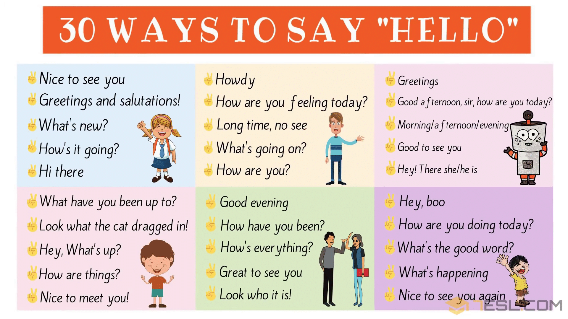 Greetings 30 Ways To Say Hello Hello Synonyms