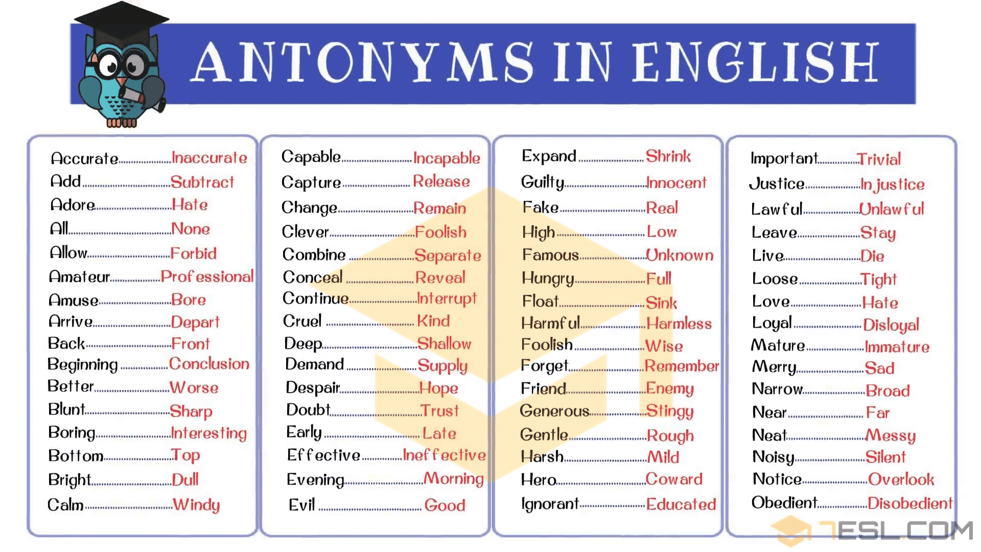 Worksheet Synonyms Big