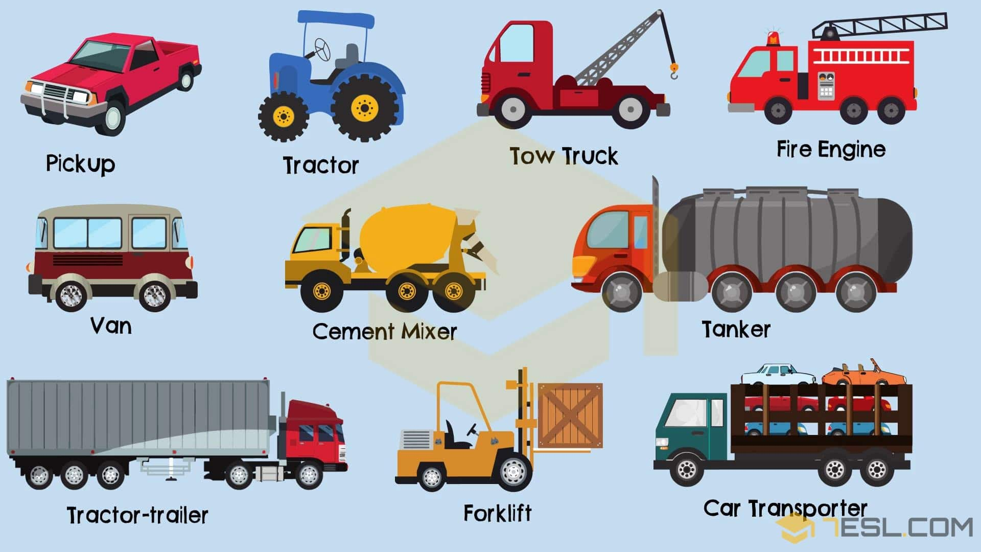 Types Of Trucks In English Truck Names With Pictures