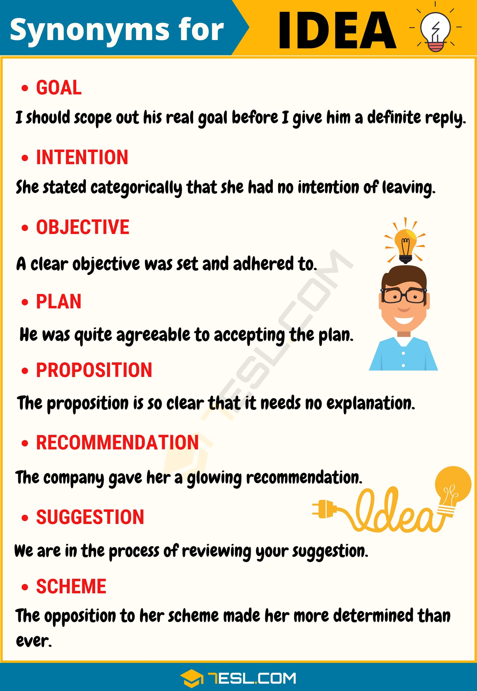 Idea Synonym List Of 100 Synonyms For Idea With Useful