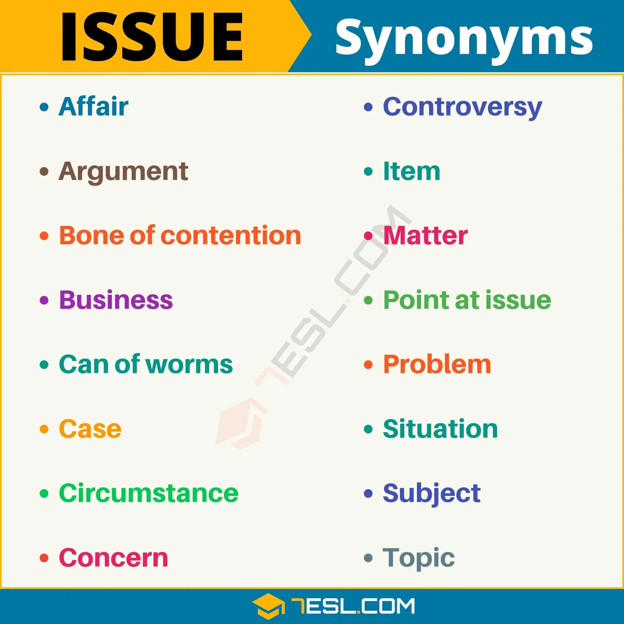 Issue Synonym List Of 105 Synonyms For Issue With Useful