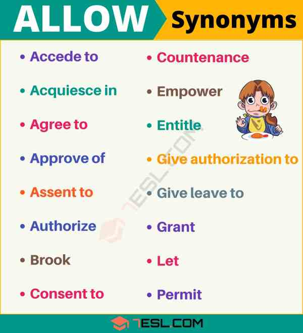 ALLOW Synonym: List Of 100+ Synonyms For Allow With Useful ...
