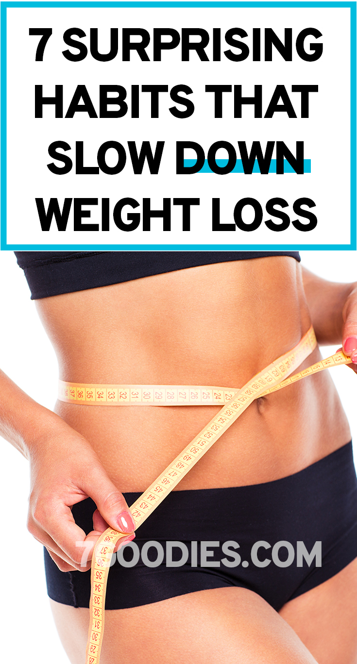 In this post we highlighted seven surprising habits that slow down your metabolism hence sabotaging weight loss.