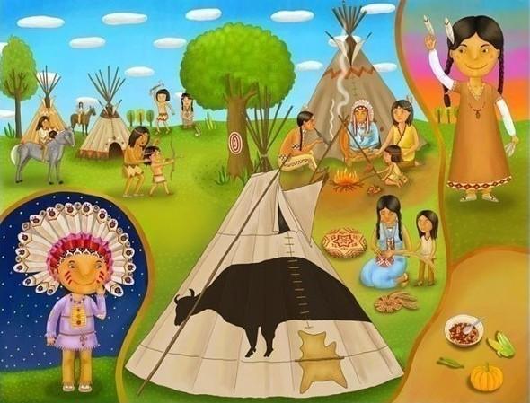 Жизнь и обычаи разных народов в картинках