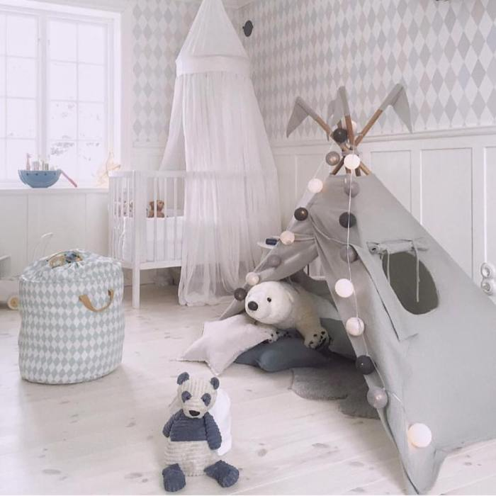 white nursery room
