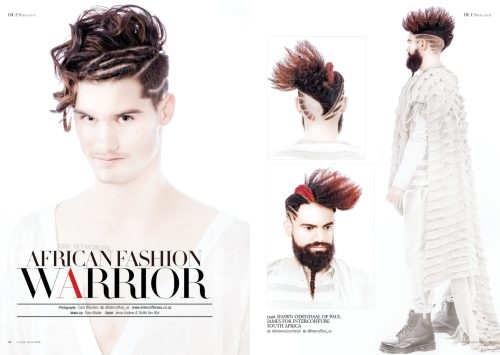 African Fashion Warrior – Men Collection by Intercoiffure South Africa for 7Hues Hair