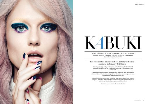 Kabuki by Box Hill Institute Educators, Mentored by Industry Trailblazers for 7Hues Hair