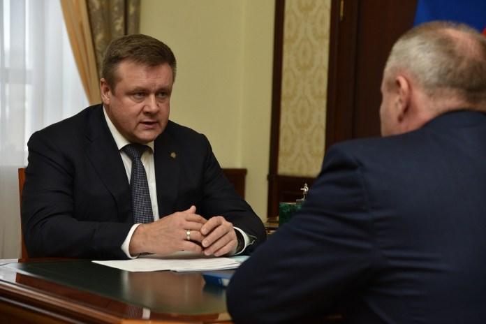 Николай Любимов встретился с главой администрации Путятинского района