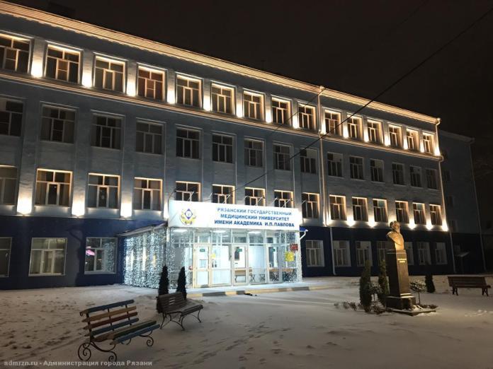 Ещё одно здание в Рязани оформили архитектурной подсветкой