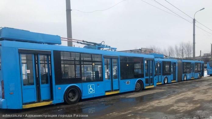 Троллейбусы №№9,16 изменят схему движения из-за ремонта улицы Промышленной в Рязани