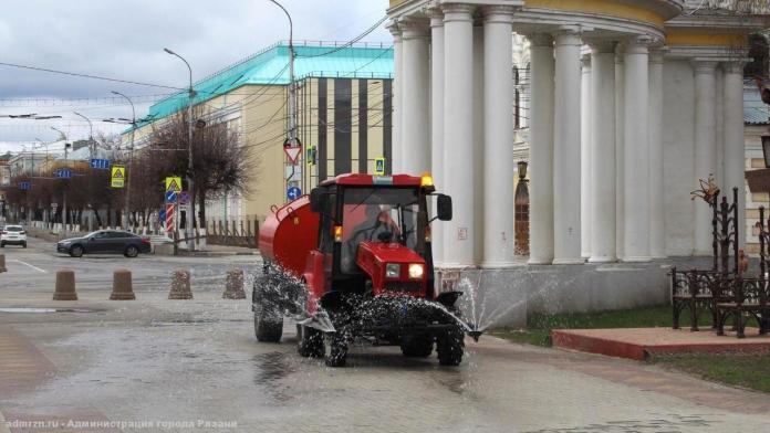 Поздно вечером в Рязани проведут дезинфекцию улиц