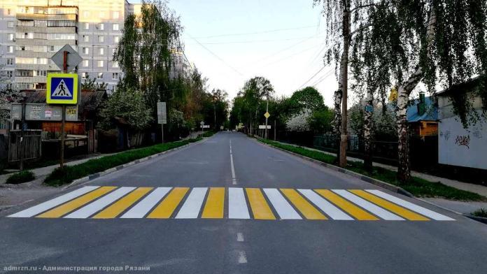 На 13 улицах Рязани обновили дорожную разметку