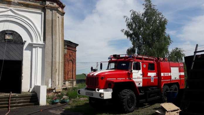 В Рязанской области загорелся храм «Троицы Живоначальной»