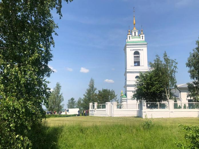 Сергея Захарова привезли для прощания в Константиново