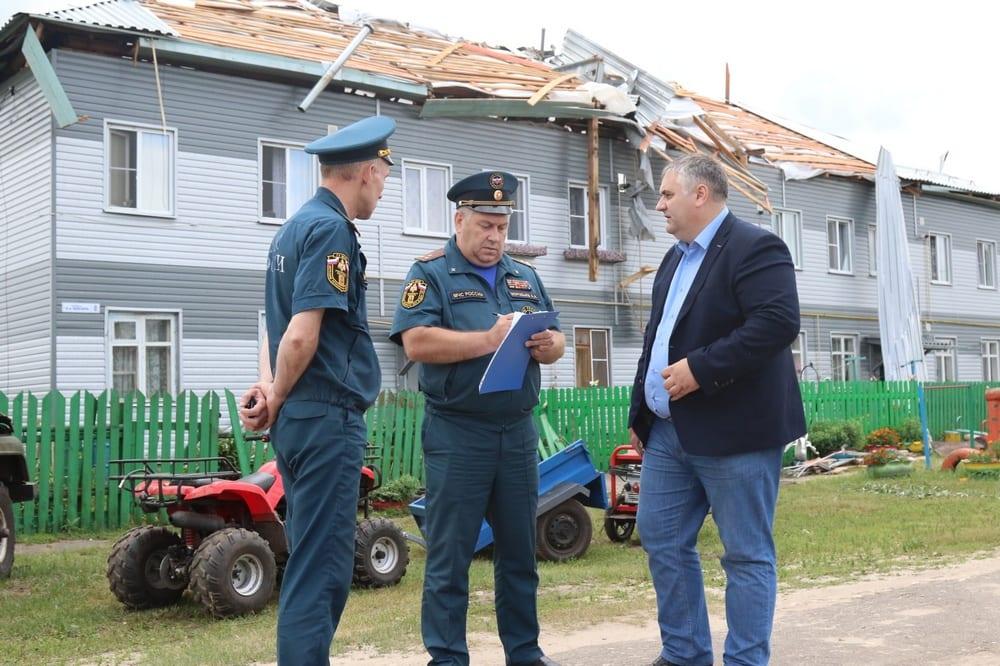 В пострадавшем от урагана рязанском посёлке ввели режим ЧС