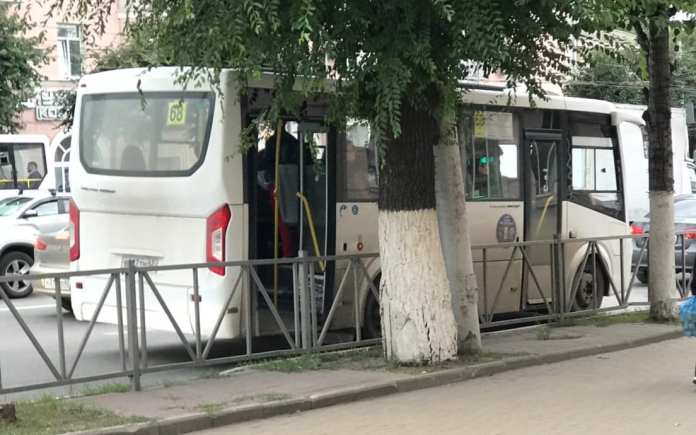 По Рязани ездила маршрутка с открытой дверью
