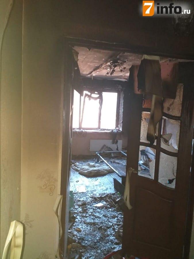 В жилом доме в Солотче произошёл пожар