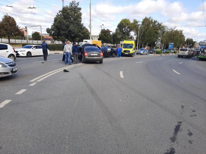 На улице Вокзальной в Рязани произошло ДТП с пострадавшими