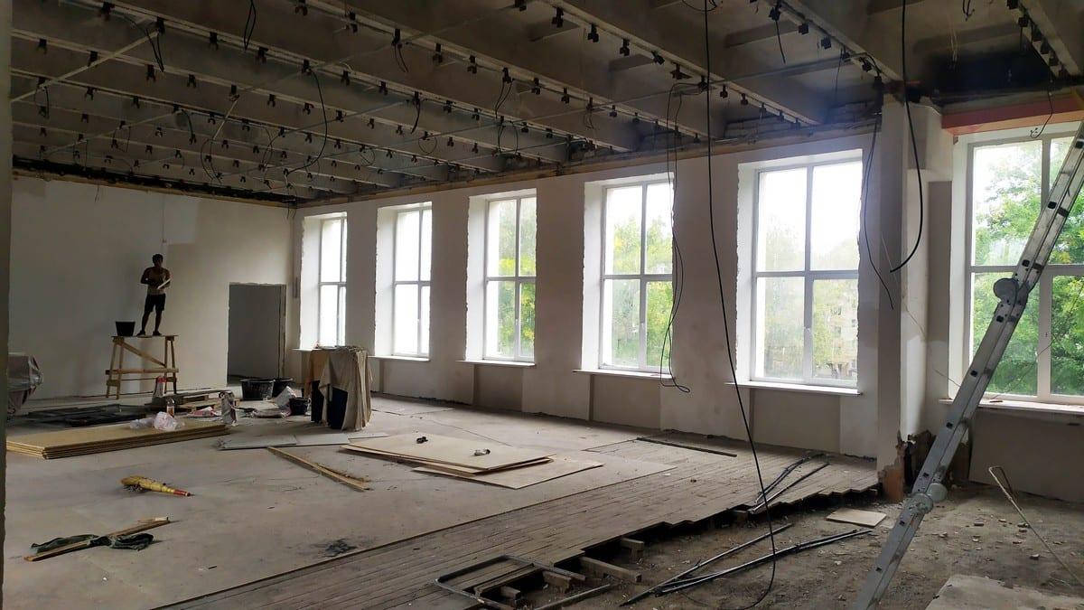 Продолжается капитальный ремонт Кораблинской детской музыкальной школы