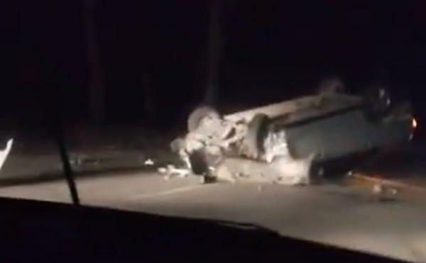 В Рязани в результате ДТП перевернулся автомобиль