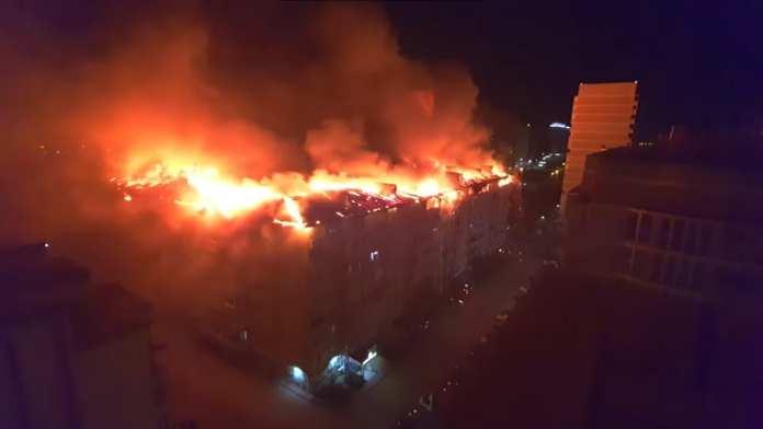 Пожар в Краснодаре тушили примерно шесть часов