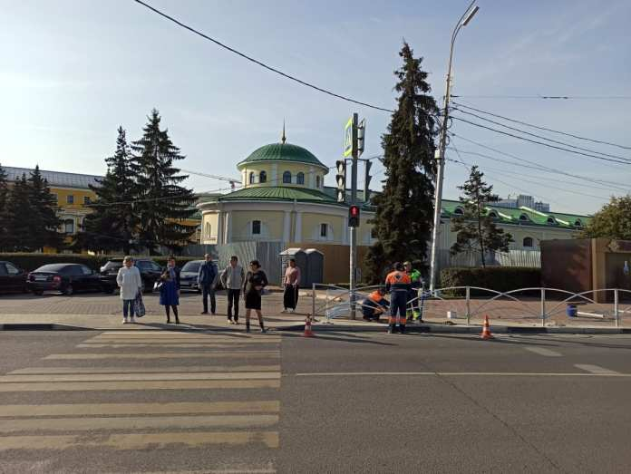 В Рязани на площади Ленина устанавливают ограждения