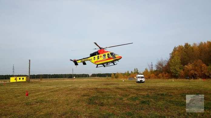 Из Михайловского района в рязанскую ОКБ вертолётом доставили ребёнка