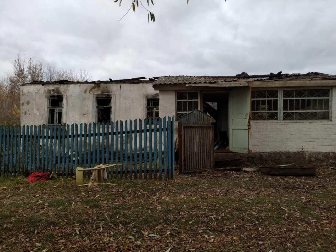Последствия пожара в селе Пертово Чучковского района