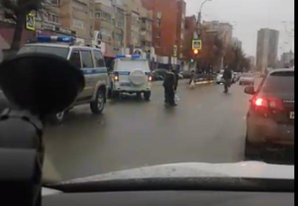 В центре Рязани попал в аварию полицейский автомобиль