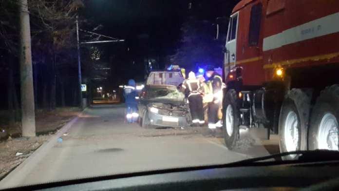 На улице Советской Армии в Дашково-Песочне произошло серьёзное ДТП