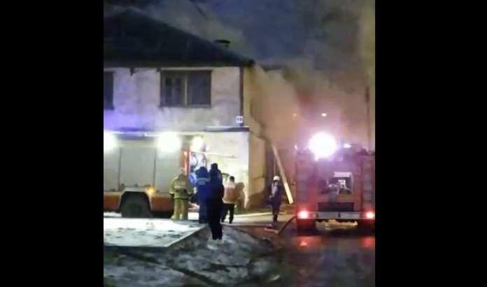 В Рязани произошёл крупный пожар