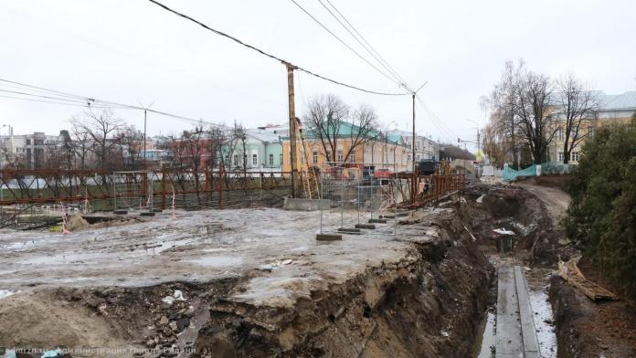 Работы по реконструкции моста на улице Ленина ведутся согласно графику