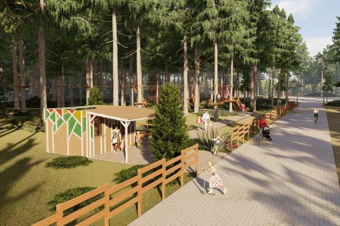 Весной 2021 года в липецком Нижнем парке появится веревочный городок