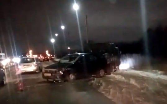 На Северной окружной в Рязани образовалась пробка из-за ДТП